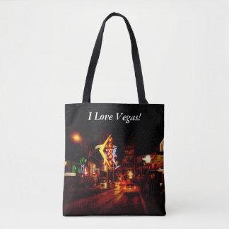Tote Bag Vie nocturne de Vegas - Las Vegas Nevada