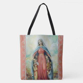 Tote Bag Vierge Marie béni avec des enfants
