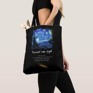Tote Bag Vincent van Gogh. Art de poème de peinture de nuit
