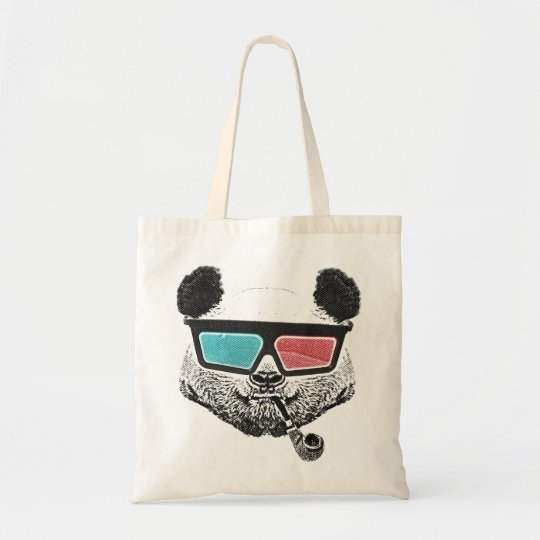 Tote Bag Vintage panda 3-D glasses