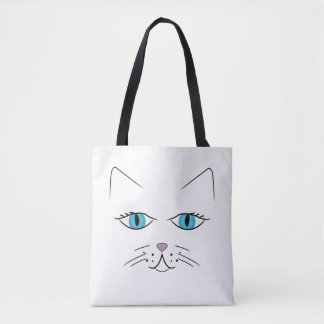 Tote Bag Visage de chat
