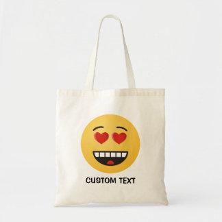 Tote Bag Visage de sourire avec les yeux en forme de coeur