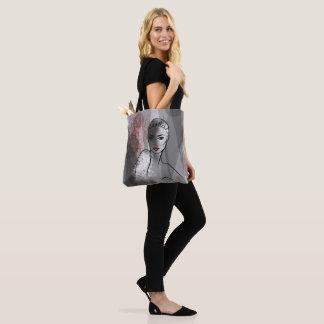Tote Bag Visage d'illustration de mode beau