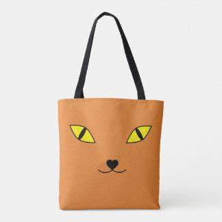 Tote Bag Visage heureux de chat