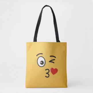 Tote Bag Visage jetant un baiser