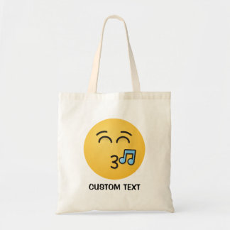Tote Bag Visage siffleur avec les yeux de sourire