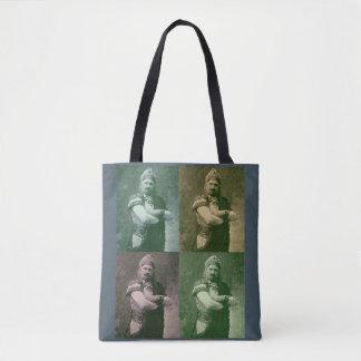 Tote Bag visages de chanteur français fou de l'opéra 1909