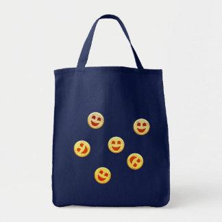 Tote Bag visages heureux de biscuits
