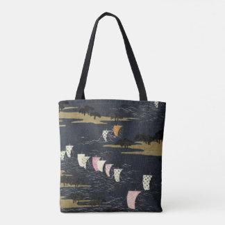 Tote Bag Voiliers colorés sur la rivière