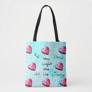 """Tote Bag """"Vous m'allumez vers le haut"""" de la conception"""