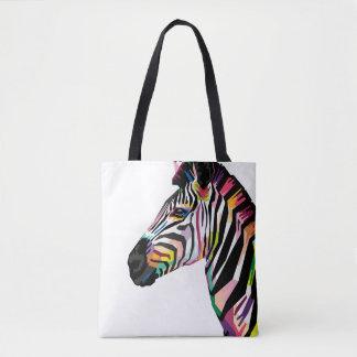 Tote Bag Zèbre coloré d'art de bruit sur l'arrière - plan