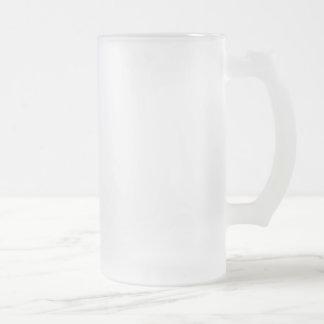 totem de hibou frosted glass beer mug