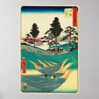 Totsuka, Japon : Copie vintage de bois de graveur Posters