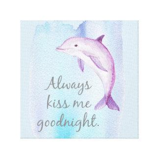 Toujours copie de toile de dauphin de baiser bonne
