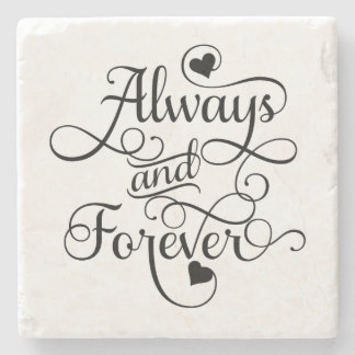 Toujours et pour toujours, épouser ou dessous-de-verre en pierre