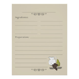 Toujours pages rustiques de classeur de recette d' prospectus 21,6 cm x 24,94 cm