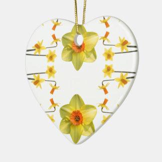 Toujours ressort ornement cœur en céramique