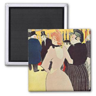 Toulouse-Lautrec : Au fard à joues Magnet Carré