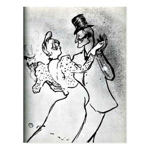 Toulouse-Lautrec : La Goulue et Valentin, valse Carte Postale