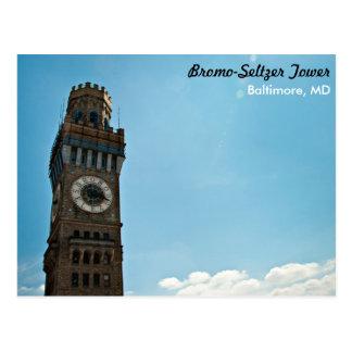 Tour Baltimore de Bromo-Seltzer Carte Postale