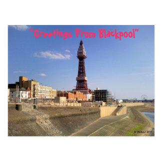 Tour de Blackpool Carte Postale