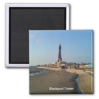 Tour de Blackpool en Angleterre Magnet Carré