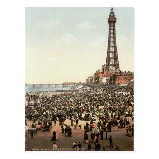 Tour de Blackpool, Lancashire, Angleterre, c.1895 Carte Postale