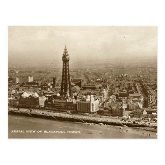 Tour de Blackpool - vieille carte postale