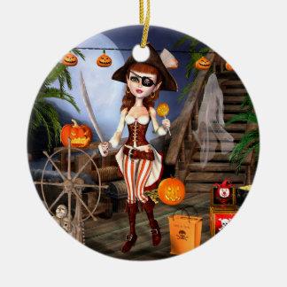 Tour de fille de pirate de Halloween ou ornements
