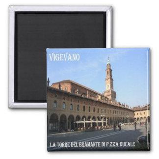 Tour de la -Italie-Vigevano-Le de Bramante Magnet Carré
