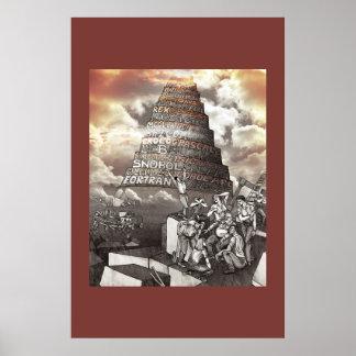 Tour de langages de programmation de Babel Posters