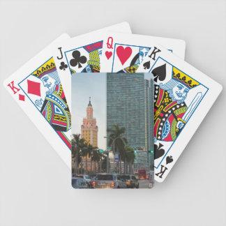 Tour de liberté et gratte-ciel jeux de cartes