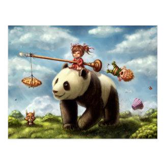 Tour de panda carte postale
