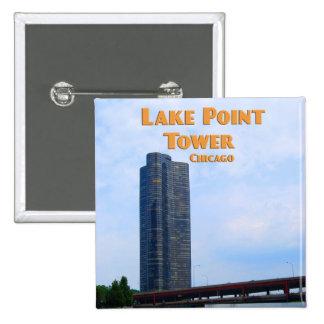 Tour de point de lac - Chicago l'Illinois Badge Carré 5 Cm