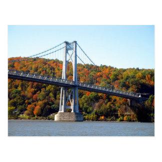 Tour de pont en automne carte postale