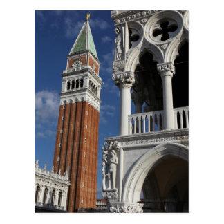 Tour de San Marco Bell en carte postale de Venise