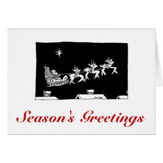 Tour de Sleigh de Noël de carte d'ASC