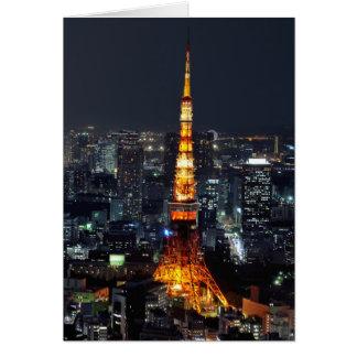 Tour de Tokyo par nuit Carte De Vœux