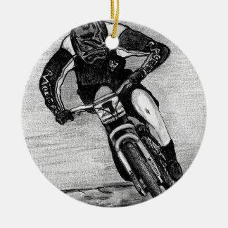 Tour de vélo de montagne ornement rond en céramique