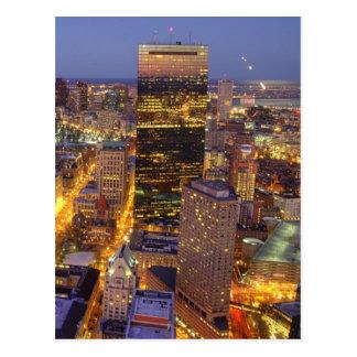 Tour du centre de Boston et de Hancock Carte Postale