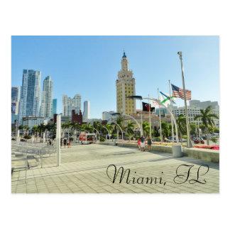 Tour du centre de Miami/liberté Carte Postale
