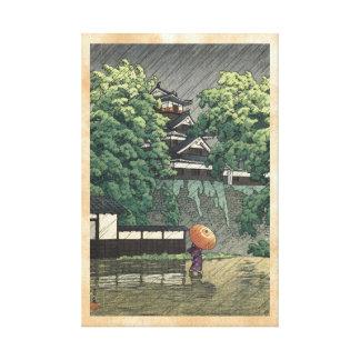 Tour d'Udo, château de Kumamoto sous la pluie Toiles