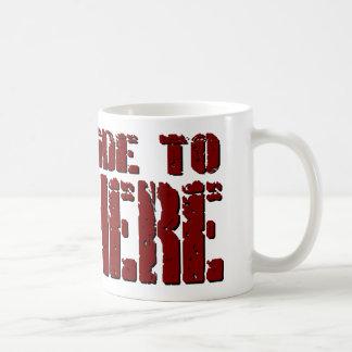 Tour dur dans la tasse de café de nulle part