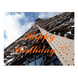 Tour Eifel à carte d'anniversaire de Paris