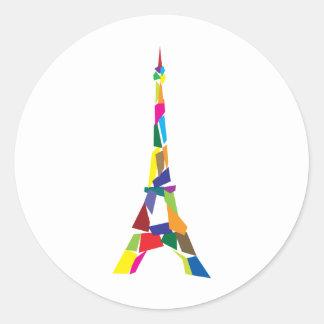 Tour Eiffel abstrait France Paris Adhésifs Ronds