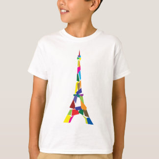 Tour Eiffel abstrait, France, Paris T-shirt