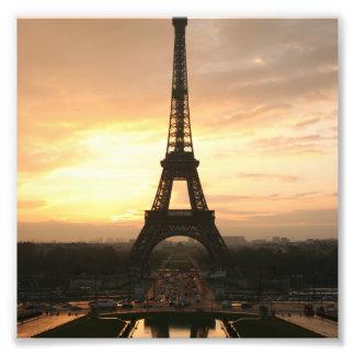 Tour Eiffel au lever de soleil du Trocadero Photo Sur Toile
