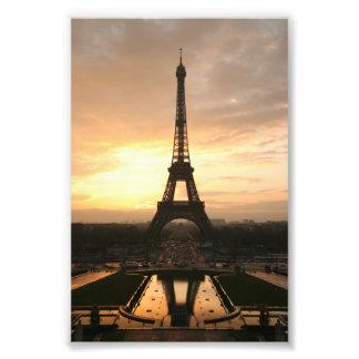 Tour Eiffel au lever de soleil du Trocadero Photographie D'art