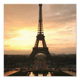 Tour Eiffel au lever de soleil du Trocadero Photo D'art