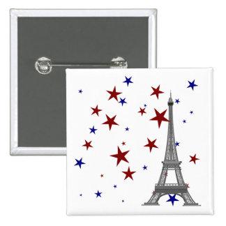Tour Eiffel avec des étoiles Pin's
